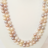 36 inches of AA Grade Multi-Colour pearls